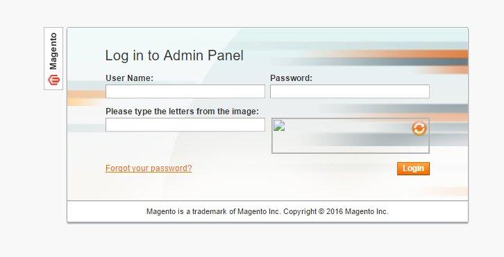 Disable Captcha on Magento Admin Login
